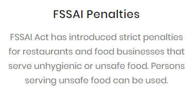 FSSAI Penalties