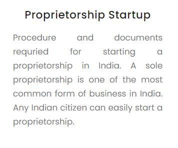 Starting a Proprietorship in India