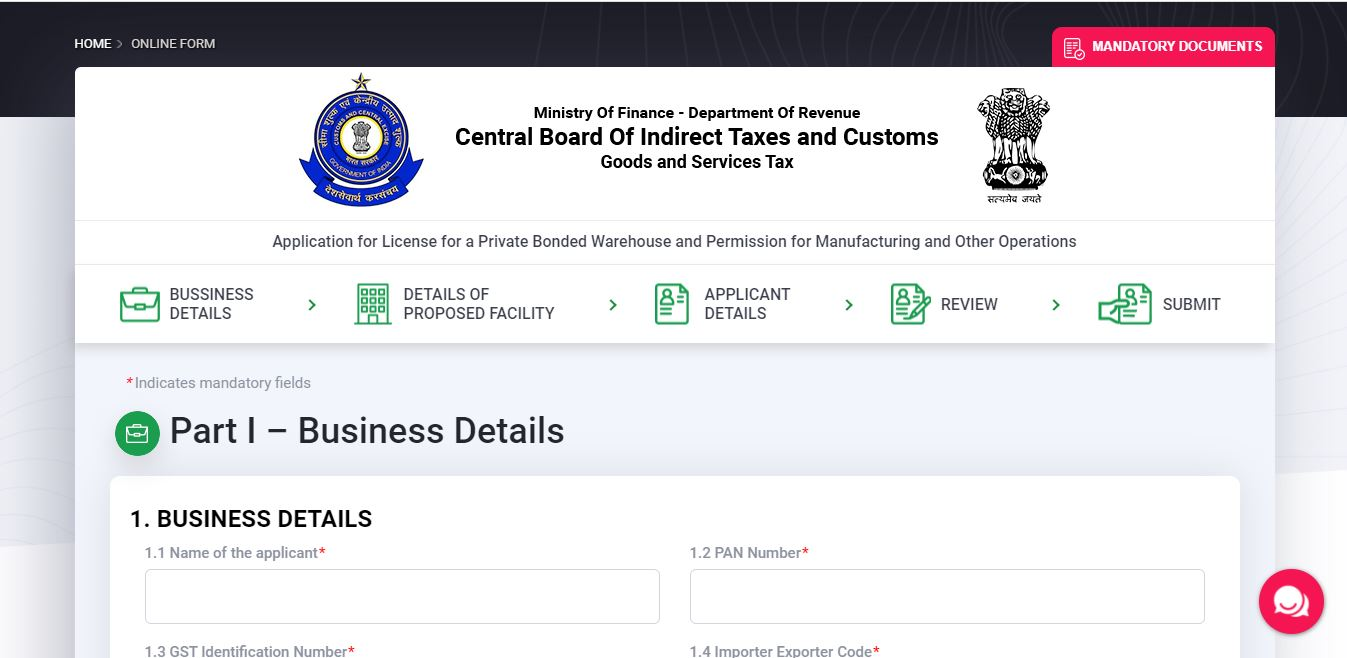 Revised Guidelines of Bonded Manufacturing Scheme - Application2
