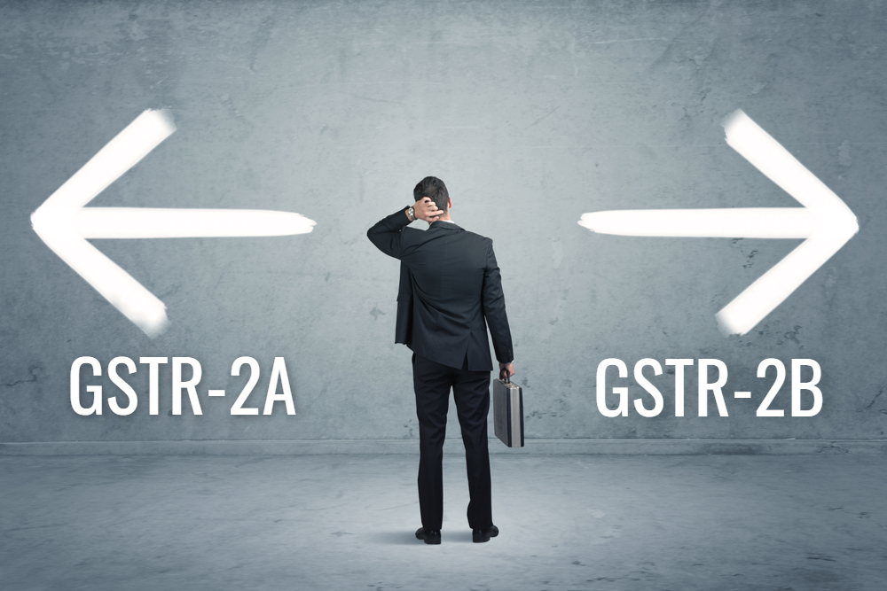 Difference between GSTR-2A and GSTR-2B