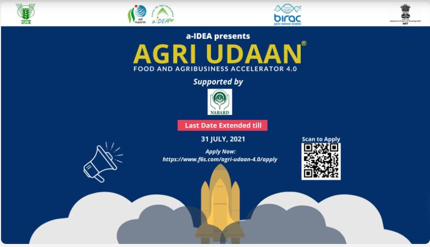 Agri Udaan 4.0 for Food and Agribusiness startups- Home Page