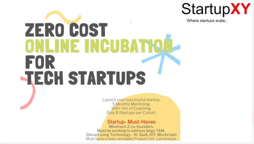 StartupXY Incubation Program for Technology Startups