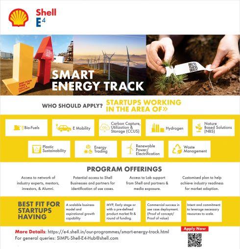Shell E4 Smart Energy Track Program for Startup